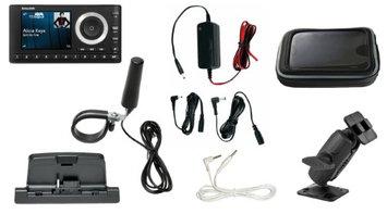 Satellite Radio Superstore SiriusXM Radio UTV Plus Bundle for Polaris RZR, UTV Vehicles, Soft Case