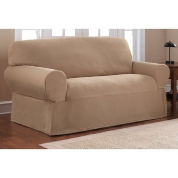 Mainstays Stretch Pixel 1 Piece Loveseat Furniture Cover Slipcover, Chocolate Brown