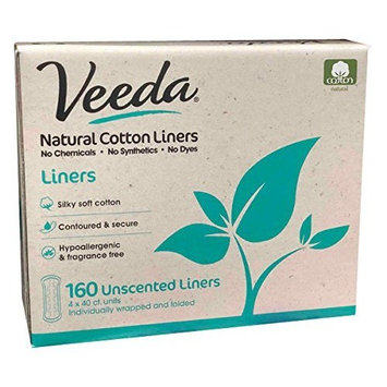 Veeda Natural Cotton Liners, Hypoallergenic, Folded 160 Count [Liners]