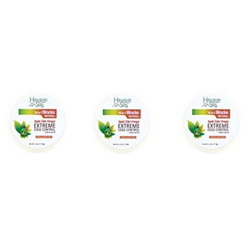 [VALUE PACK OF 3] HAWAIIAN SILKY Apple Cider Vinegar HAIR EDGE CONTROL 2.4OZ : Beauty