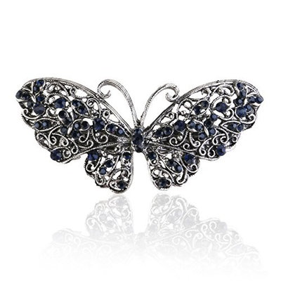 Frcolor Rhinestone Butterfly Hair Clips Hair Barrette Clip Accessary for Women