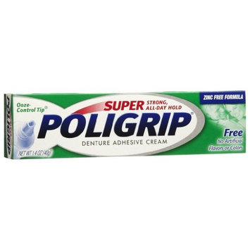 Poligrip Free Denture Adhesive 1.4 oz. by Super Poli-Grip