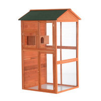 Pawhut 71 Large Vertical Outdoor Aviary Bird Cage - Golden Red