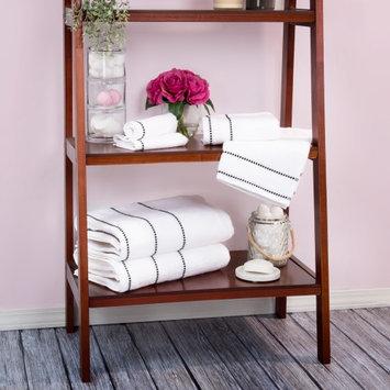 Lavish Home Zero Twist 100% Cotton 6 Piece Towel Set Color: White