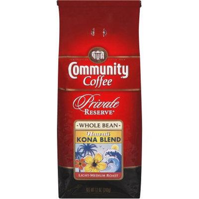 Community Coffee Private Reserve Whole Bean Coffee, Kona Blend, 12 oz