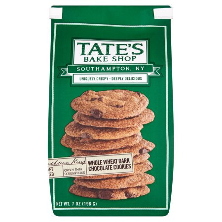 Tate's Bake Shop Tates, Cookie Whole Wheat Drk Chocolate, 7 Oz (Pack Of 6)