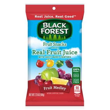 Black Forest Juicy Center Fruit Flavored Snacks, Fruit Medley, 2.25 Ounce Bag, Pack of 48
