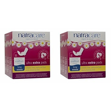 (2 PACK) - Natracare Ultra Extra Pads With Wings - Long | 8s | 2 PACK - SUPER SAVER - SAVE MONEY: Health & Personal Care