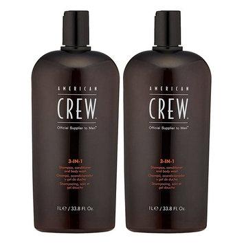 American Crew: 3-in-1 Shampoo, Conditioner & Body Wash, 15.2 oz (2 pack)