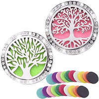 Car Fragrance Essential Oil Diffuser -2 PACK with 20 replacement Color Pads- for Vent Clip Clamp Bling Bling Car Aromatherapy Diffuser