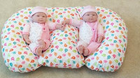 The Twin Z Company THE TWIN Z PILLOW - Waterproof BIRDIES Pillow - The only 6 in 1 Twin Pillow Breastfeeding, Bottlefee