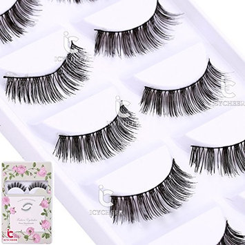 5 Pairs Makeup Handmade Thick Cross False Eyelashes Extension Natural Eye Lashes