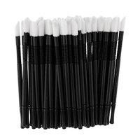 Baoblaze 50Pcs/Set Disposable Lip Brushes Make Up Brush Lipstick Lip Gloss Wands Applicator Tools Makeup Beauty Tool Kits - Normal