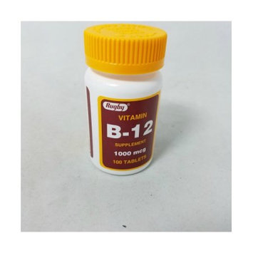 Major Pharmaceuticals, Inc. Rugby Vitamin B-12 Tablets, 1,000mcg, 100ct