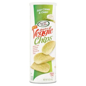 Sensible Portions Garden Veggie Chips Sour Cream & Onion Potato Chips, 5 oz, 12 pack