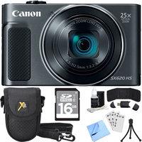Canon PowerShot SX620 HS 20.2MP Digital Camera Black w/ Essential Accessory Bundle