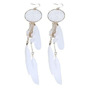 2016 New Hot Bohemia Feather Beads Long Design Dream Catcher Earrings for Women Jewelry