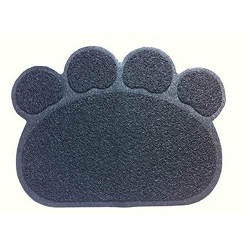 Cat Litter Trapping Mats. For Cat Litter Boxes [Paw Print - Grey]