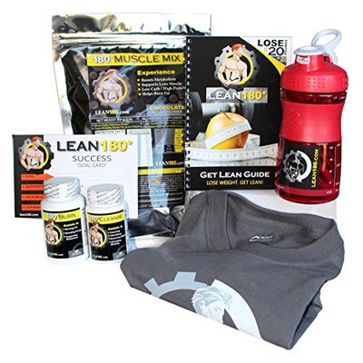 Lean 180 - 30 Day Weight Loss Challenge - Diet Plan to Lose Weight Fast and Get Lean - Lose up to 30 Pounds in Just 30 Days - Everything You Need to Get Lean Fast and Lose Belly Fat (Chocolate, L)
