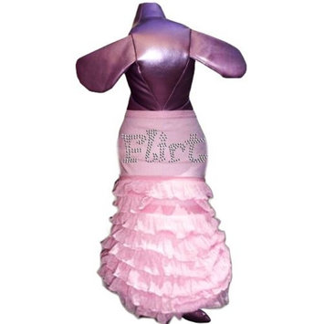 Pet Tease Flirt Dog Frill Dress, Pink with Pink Frill with Rhinestone Lettering