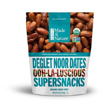 Made in Nature Organic Dried Dates, 20 oz - Non-GMO Vegan Dried Fruit Snack [Dates]