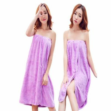 Coxeer Soft Comfortable Coral Velvet Bath Wrap Towel Wearable Nail Buckle Shower Towel Wrap Shower Body Wrap Bathrobe for Women Girls Home Travel Spa