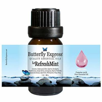 Le RefreshMint Essential Oil Blend 10ml - 100% Pure - by Butterfly Express