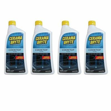Cerama Bryte Glass-Ceramic Cooktop Cleaner, 28 Ounce - 4 Pack