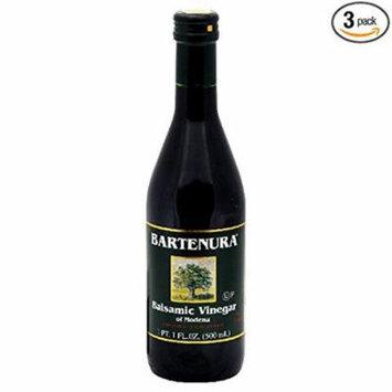 Bartenura Balsamic Vinegar, 16.9000-ounces Glass Bottle (Pack of 3)