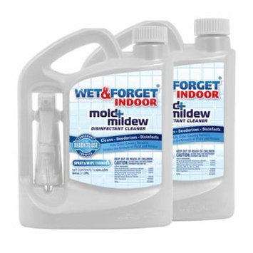 Wet & Forget Indoor Mold and Mildew Disinfectant Cleaner 64 oz., 2-pack