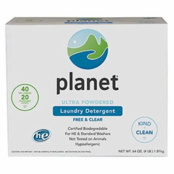 Planet Ultra Powdered Laundry Detergent Case of 10 64 oz.