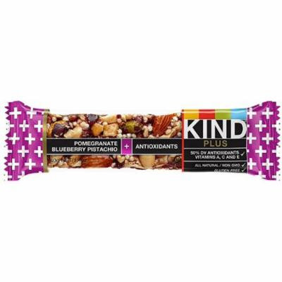 2 Pack - Kind Plus Bar, 1.4 oz bars, Pomegranate Blueberry Pistachio + Antioxidants 12 bars