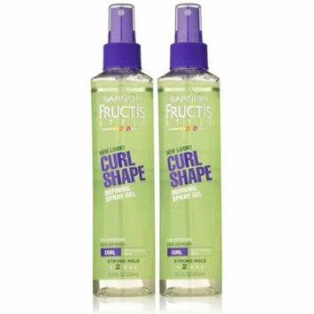 Garnier Fructis Curl Shape Spray Gel, Strong Hold, 8.5 oz, 2 pk