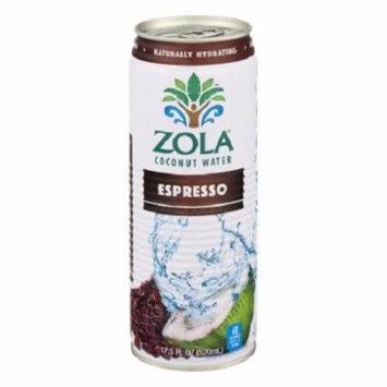 Zola Coconut Water - Espresso - Case of 12 - 17.5 oz.