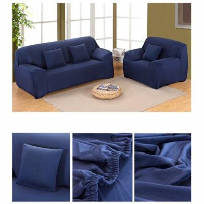 Stretch Sofa Slipcover Elastic Sofa Couch Settee Cover Anti Slip Pet Dog Cat Protector,Dark Blue