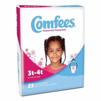 Comfees girl training pants - size 3t-4t part no. cmf-g3 (23/package)