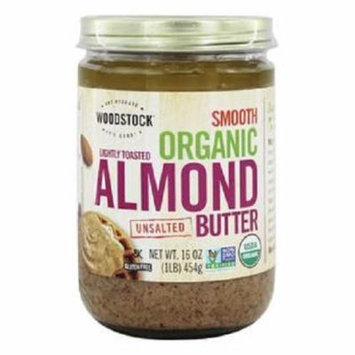 Woodstock Organic Raw Almond Butter Case of 12 16 oz.