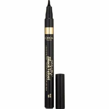 4 Pack - L'Oreal Infallible Black Velvet Liquid Eyeliner, Black 0.056 oz