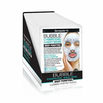 Dermactin-TS Bubble Charcoal Sheet Mask - Deep Purifying (Pack of 2)