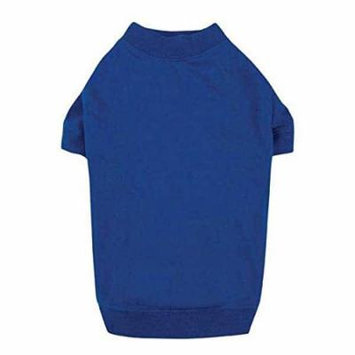 T-SHIRTS for Dogs Brightly Colored Dog Tshirt with Warm Elastic Neck Sleeves (Large Nautical Blue)