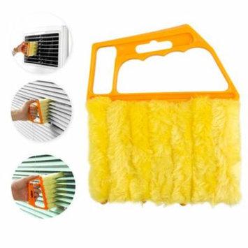 TSV Shutters Window Blind Brush Dust Cleaner Orange with 7 Slat Handheld Household Tool