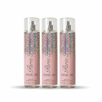 Heiress Paris Hilton Body Spray For Women 8.0 oz (PACK OF 3)