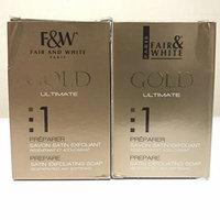 Lot Of 2 Fair & White 1 PREPARE Gold Satin Exfoliating Bar Soap 200gr/7oz