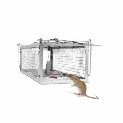 Large Size Dual Door Sensitive Pedal Mousetrap Cage Rodent Control Mice Mouse Trap BEDTS