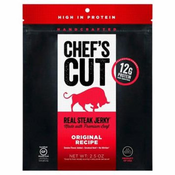 Chefs Cut Real Steak Jerky Original Recipe Case of 8 2.5 oz.