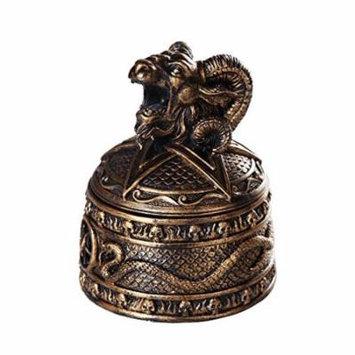 Baphomet Horned Sabbatic Goat Solve et Coagula Cone Incense Burner Box