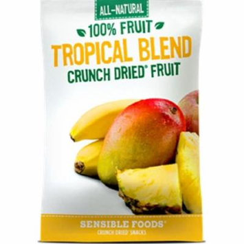 Sensible Foods Crunch Dried All Natural Snacks - Tropical Blend - Case of 12 - 0.32 oz.