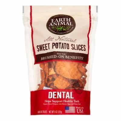 Earth Animal Dental Brushed-On Benefit Sweet Potato Slices Dog Treats, 8 Oz