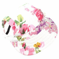 ZTL Floral Small Pet Dog Cat Baseball Visor Sports Hat Cap Outdoor Sunbonnet with Ear Holes