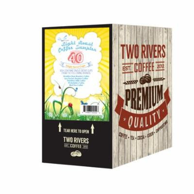 Two Rivers Coffee, Light Sampler, 40 Count Kcups